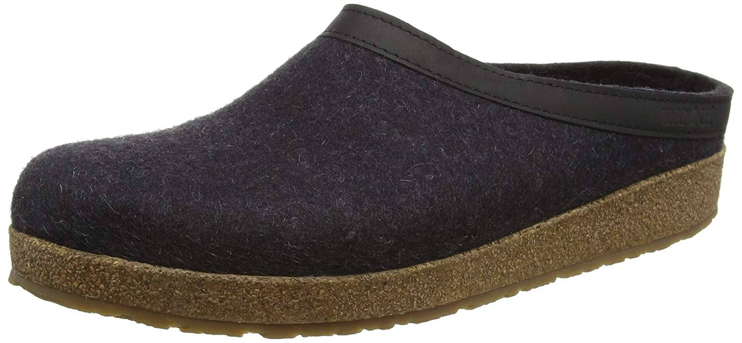 Haflinger Unisex GZL Leather Trim Grizzly Clog (Smokey Brown) $30 + Free Shipping