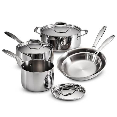 Tramontina 80116/247DS Gourmet Stainless Steel Induction-Ready Tri-Ply Clad 8-Piece for $109.99