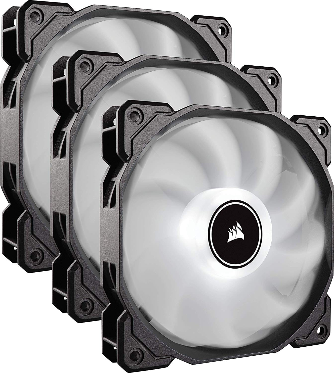 CORSAIR AF120 LED Low Noise Cooling Fan Triple Pack - White Cooling CO-9050082-WW [3 Pack] for $29.99