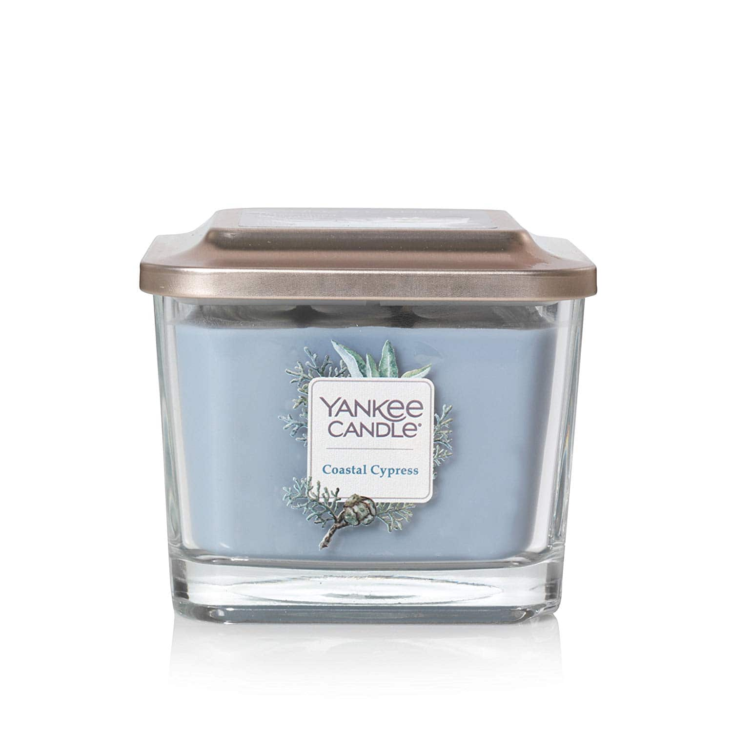 Yankee Candle Company Elevation Collection with Platform Lid, Medium 3-Wick Square Candle | Coastal Cypress [Coastal Cypress] for $8