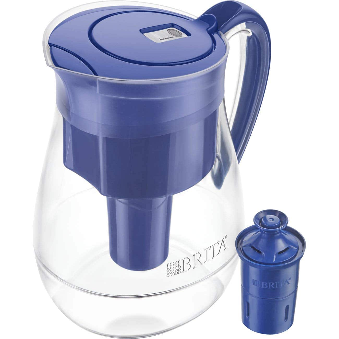 Brita Large 10 Cup Water Filter Pitcher with 1 Longlast Filter, Reduces Lead, BPA Free – Monterey, Blue for $27.99