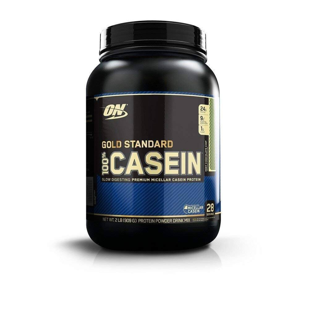 OPTIMUM NUTRITION Gold Standard 100% Micellar Casein Protein Powder, Slow Digesting, Helps Keep You Full, Overnight Muscle Recovery, Mint Chocolate Chip, 2 Pound for $17.50