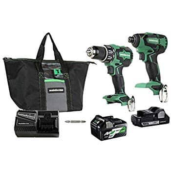 Metabo HPT Cordless Hammer Drill and Impact Driver Combo Kit, 18V, Brushless, Includes Two Batteries for $199