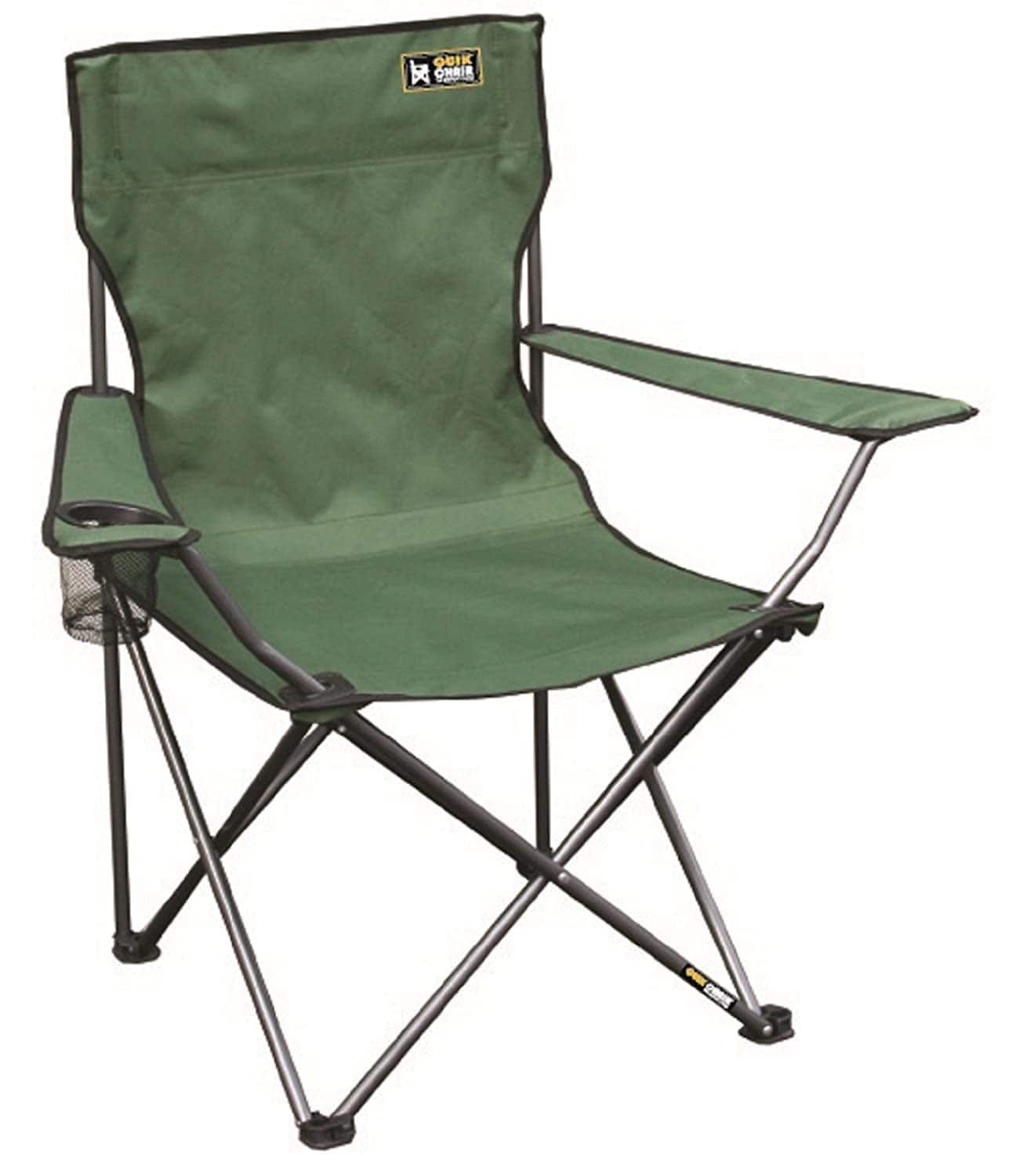 Quik Chair Portable Folding Chair with Arm Rest Cup Holder and Carrying and Storage Bag for $12.55