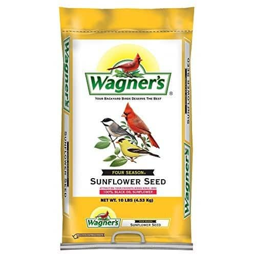 Wagner's 76025 Black Oil Sunflower Seed, 10-Pound Bag [10-Pound Bag] for $7.99