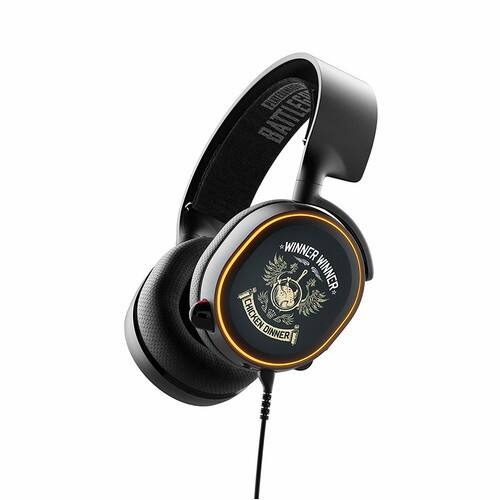 SteelSeries Arctis 5 PUBG Limited Edition - RGB Illuminated Gaming Headset with DTS Headphone:X v2.0 Surround - for PC and Playstation 4 [Arctis 5] for $59.99