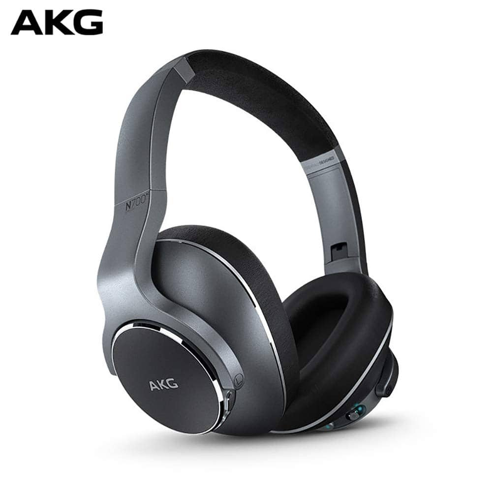 (Warehouse Deals- USED) AKG N700NC Over-Ear Foldable Wireless Headphones, Active Noise Cancelling Headphones - Silver (US Version) for $52.73