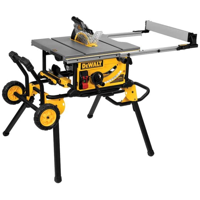 Dewalt dwe7491rs 10-inch jobsite table saw with 32-1/2-inch rip w/ rolling stand - $450 $474