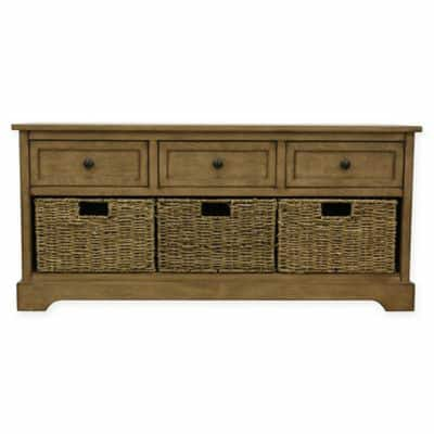Storage Bench with Removable Baskets, antique navy color- $162 + tax, free shipping