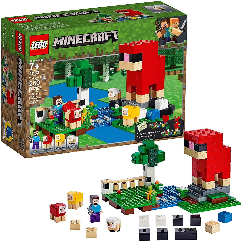 LEGO Minecraft The Wool Farm 21153 Building Kit (260 Pieces) for $15.99 @ Amazon & Walmart