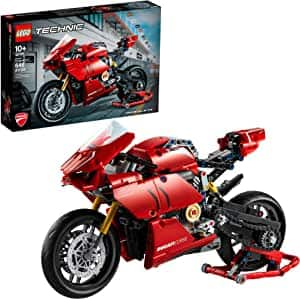 LEGO Technic Ducati Panigale V4 R 42107 Motorcycle Toy Building Kit (646 Pieces) for $56 @ Amazon & Walmart