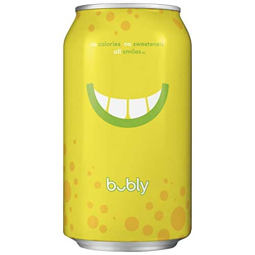 bubly Sparkling Water, Lemon, 12 fl oz. Can, 18 Packs for $7.61 @ Amazon