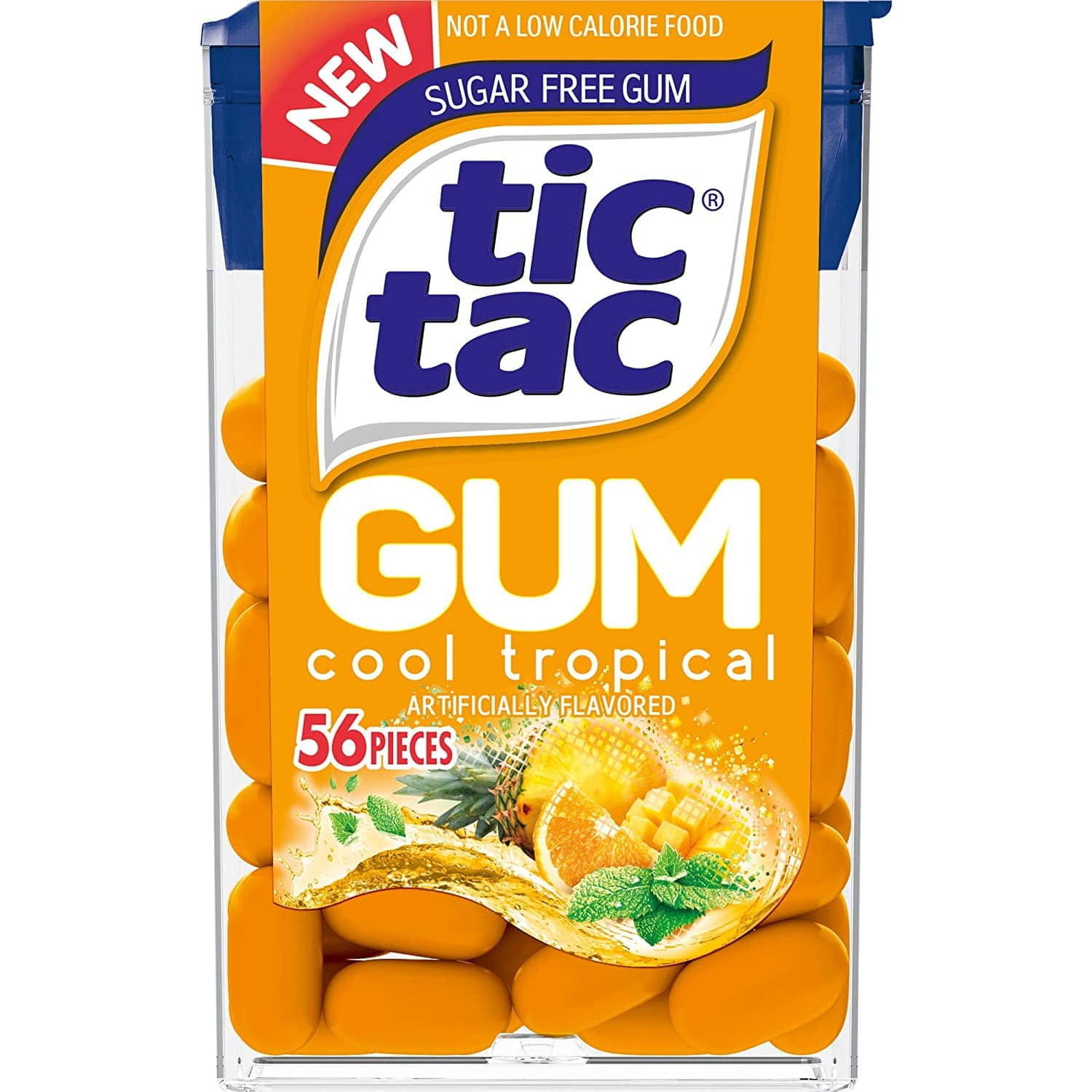Tic Tac Gum, Sugar Free Chewing Gum, Cool Tropical, 12 Count for $3 @ Amazon