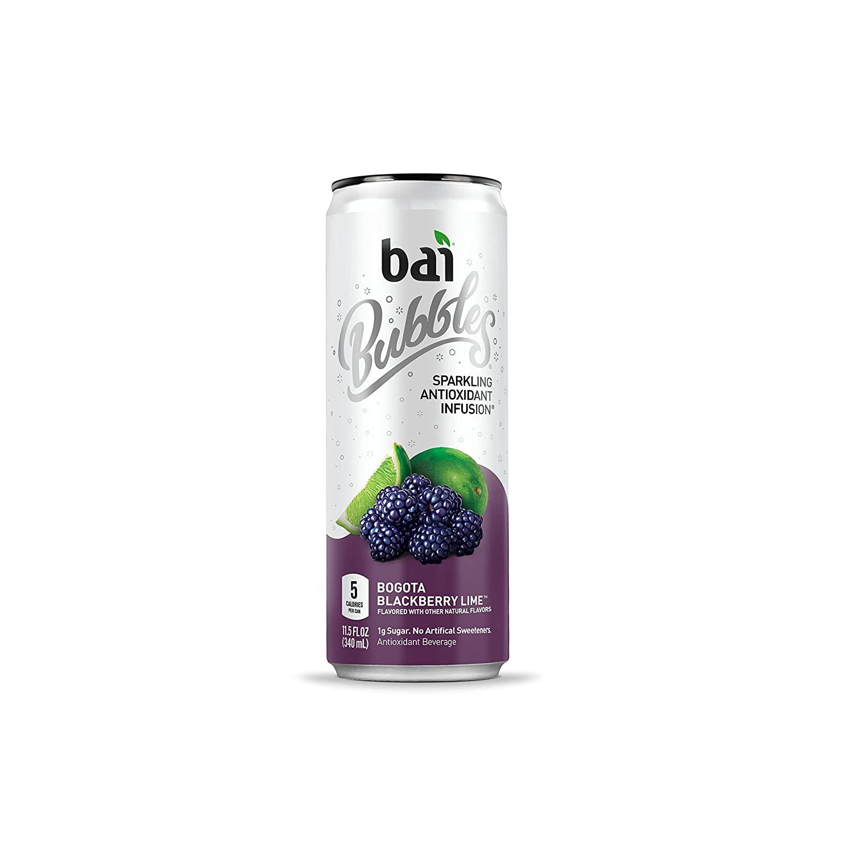 Bai Bubbles, Sparkling Water, Bogota Blackberry Lime, 11.5 Fl Oz Cans, 6 Count for $6 @ Amazon