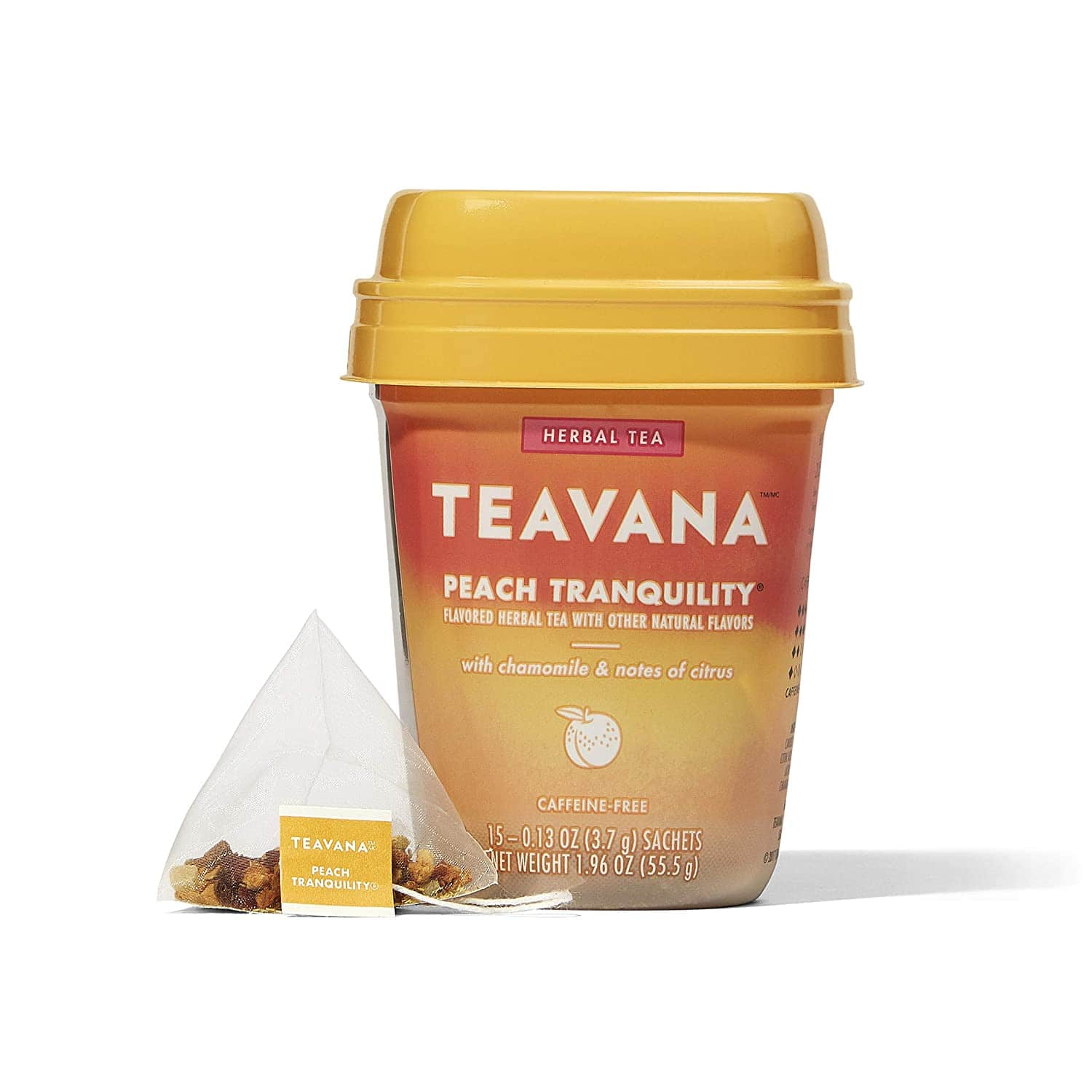 Teavana Peach Tranquility, Herbal Tea With Chamomile and Notes of Citrus, 60 Count (4 packs of 15 sachets) for $13.76 @ Amazon