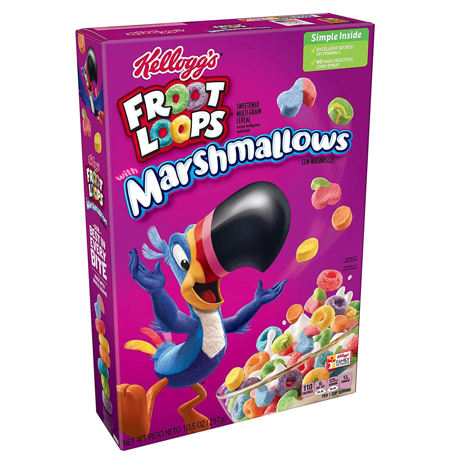 Kelloggs Froot Loops Breakfast Cereal with Fruity Shaped Marshmallows, 10.5 oz Box for $1.88 @ Amazon