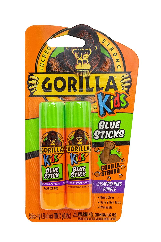 Gorilla Kids Disappearing Purple Glue Sticks, Two 6 gram Sticks, (Pack of 1) for $1.47 @ Amazon