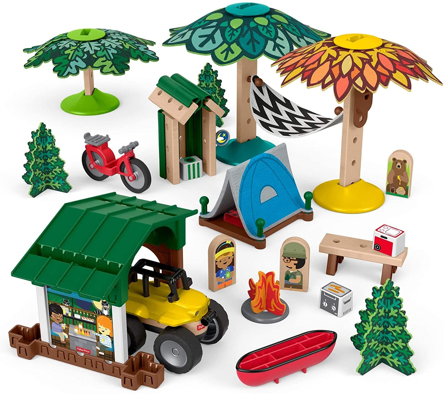 Fisher-Price Wonder Makers Design System Soft Slumber Campground, 60+ Pieces for $11.53 @ Amazon