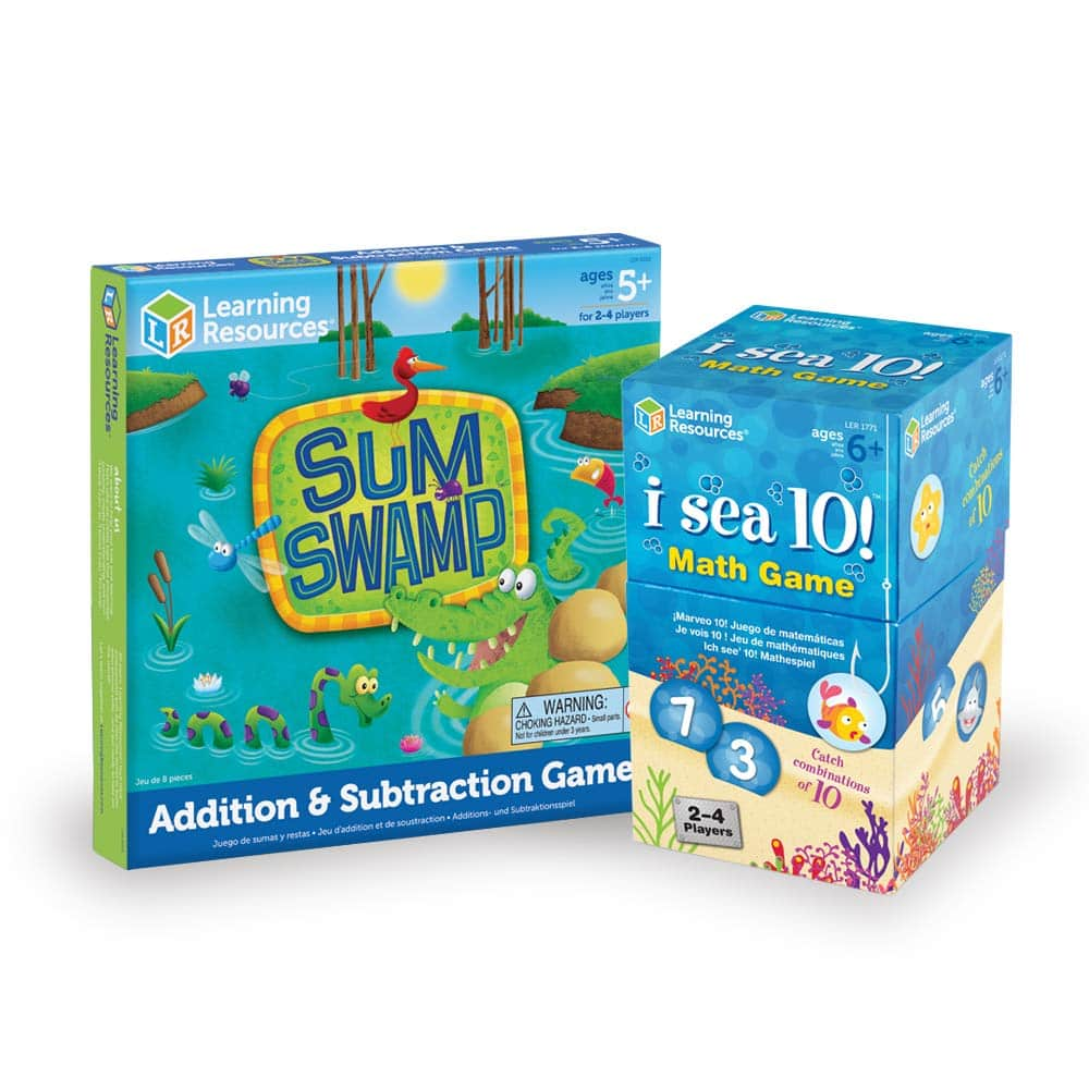 Learning Resources Math Adventure Pack, Sum Swamp & I Sea 10 Games for $15.29 @ Amazon