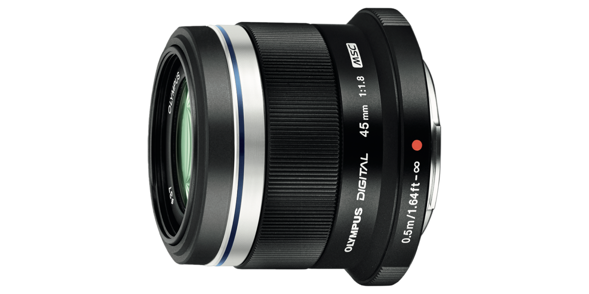 Olympus 45mm F1.8 MFT Lens Factory Reconditioned, $174
