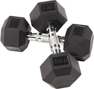 Balancefrom Rubber Encased Hex Dumbbell in Pairs, $1.5/lb