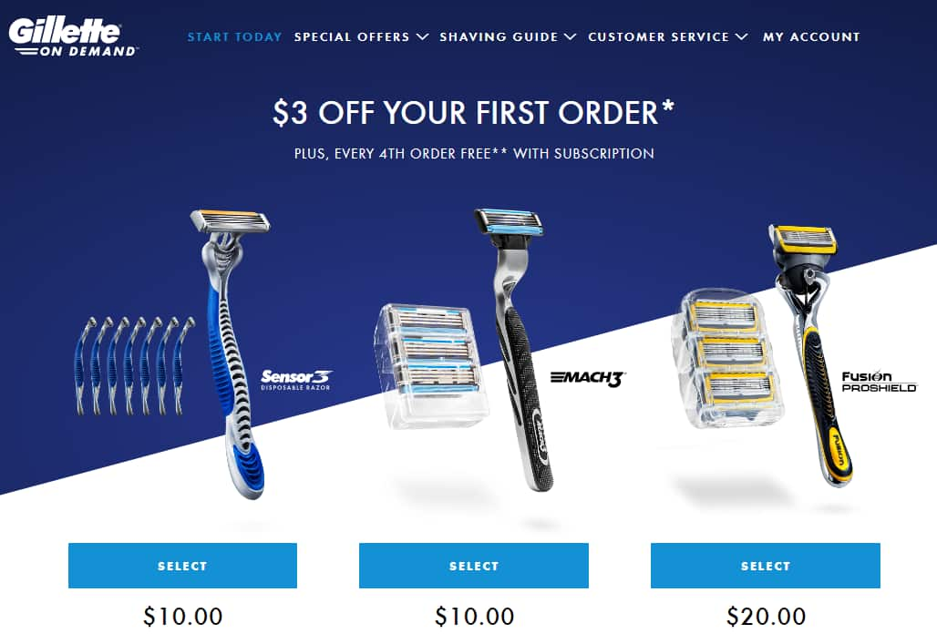 Recently Expired Gillette on Demand Coupons