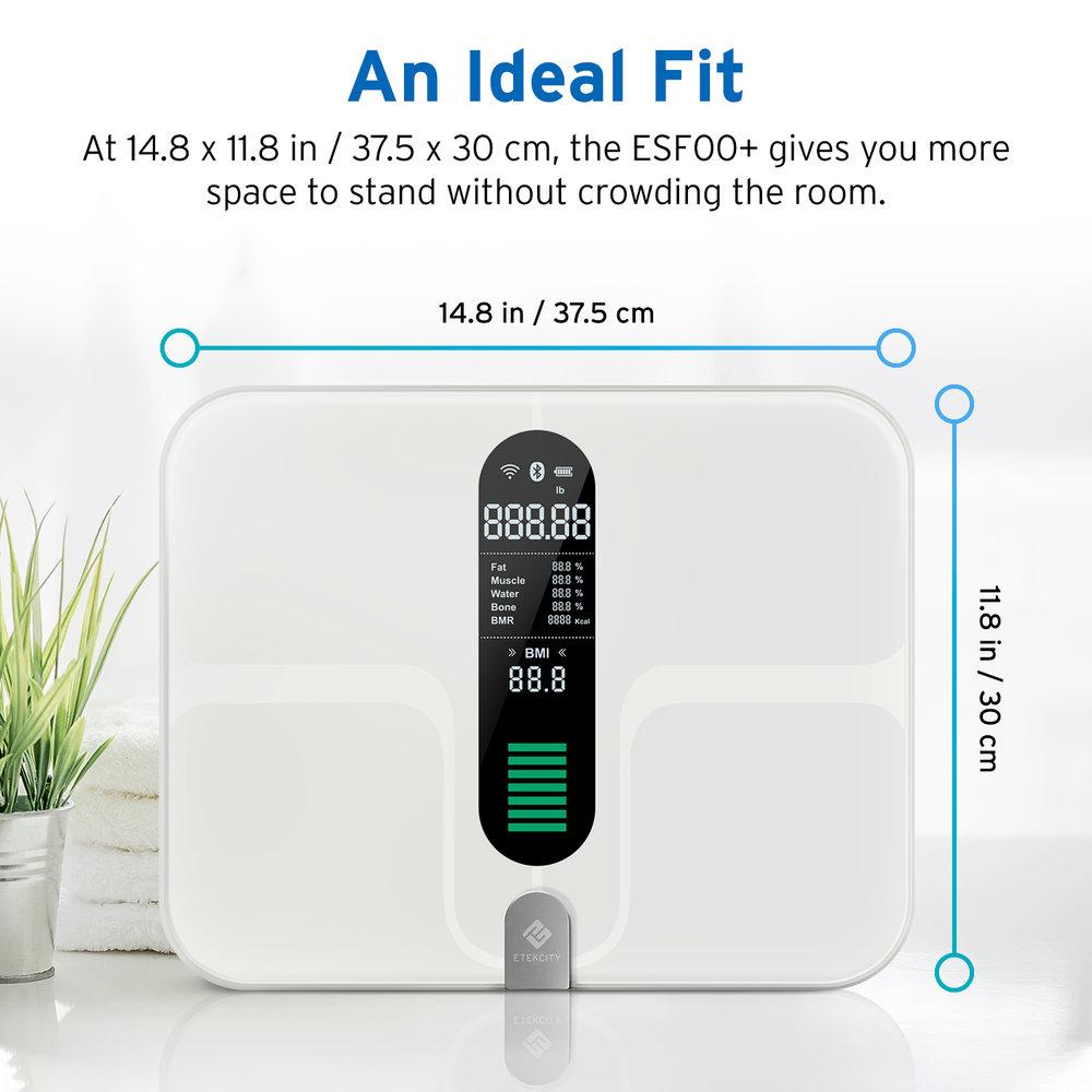 Etekcity WiFi Smart Scale (Model: ESF00+), $59.99 at Amazon, $41.99 in VeSync App, FS
