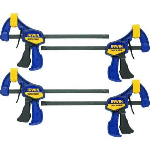 IRWIN QUICK-GRIP Clamps, One-Handed, Mini Bar, 6-Inch, 4-Pack (1964758). Back-ordered. Due in stock January 16. $16.99