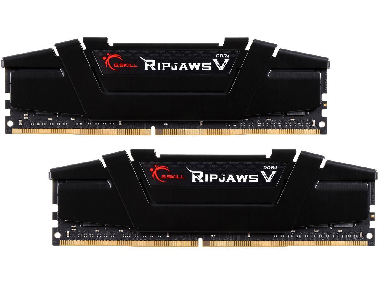 G.SKILL Ripjaws V Series 32GB (2 x 16GB) 288-Pin DDR4 SDRAM DDR4 3200 (PC4 25600) Desktop Memory Model F4-3200C16D-32GVK $135 $134.99