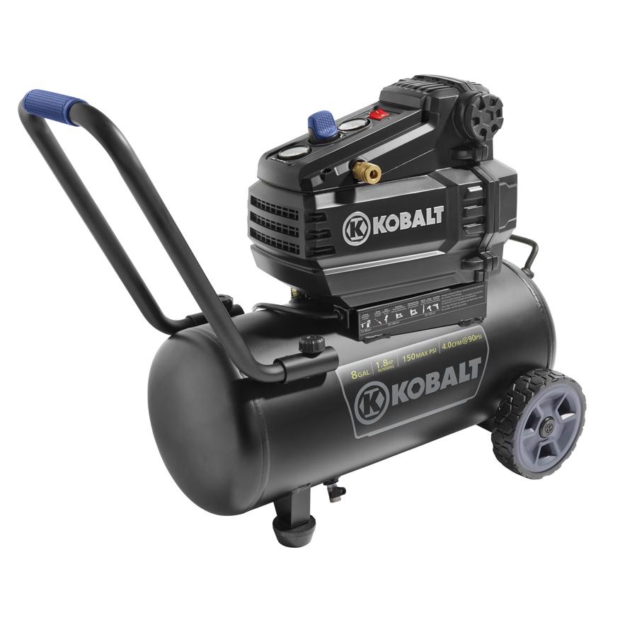 Kobalt 8-Gallon Portable Electric Horizontal Air Compressor - $80 + Tax w/ $1 filler and $20 off $100 Code
