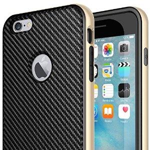 Premium Leather Bumper Cover [Carbon Fiber Series] [Bumper Frame] for iPhone 6 Plus / 6s Plus - $4.99 AC+FS @Amazon