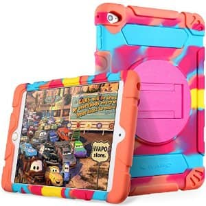iVAPO iPad Mini 4 Case for Kids Thick Armor Hybrid Rugged Silicone Shock with Kickstand for $7.99 AC FS @Amazon