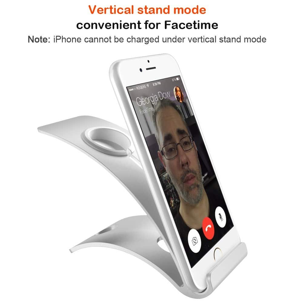 Apple Watch Dock, iPhone 6/6s Stand, iPhone SE Dock, Apple Watch Charging Stand - $9.34 AC+FS @Amazon