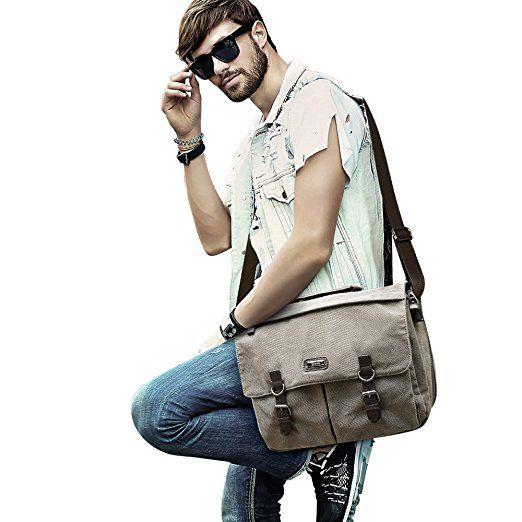 OXA 15.6 Inch Laptop Messenger Bag - Vintage Canvas Shoulder Bag for men and women $17.99