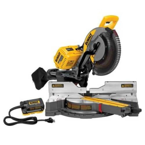 DEWALT FLEXVOLT 120-Volt MAX Lithium-Ion Cordless 12 in. Double Bevel Sliding Brushless Miter Saw with AC Adapter (Tool-Only) $374