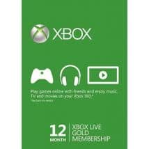 Xbox Live 12 Month Gold Membership $39.99