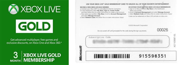 Xbox Live 3 month Gold Subscription $12.99