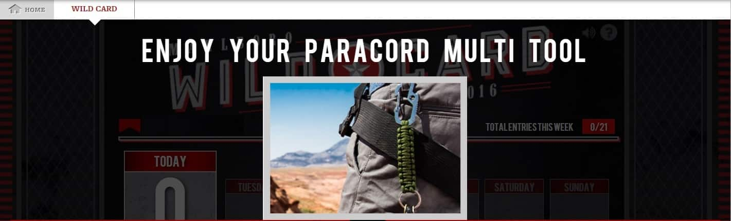 Marlboro FREE Gift: Paracord Multi Tool (after playing Wild Card game), 21 yrs+: thru 11/20/16 while supplies last