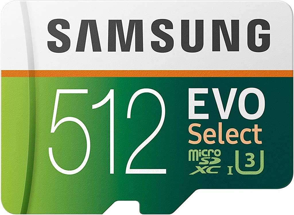512GB Samsung EVO MicroSDXC 100MB/s $70
