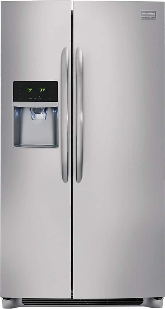 Frigidaire - Gallery 26.0 Cu. Ft. Frost-Free Side-by-Side Refrigerator - Stainless steel for $743