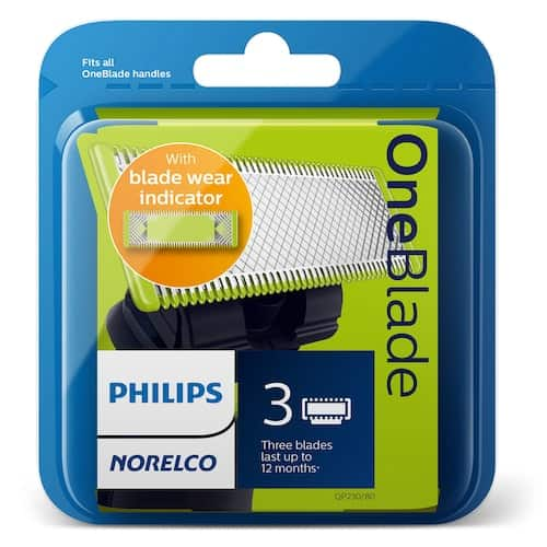Kohl's Cardholders: Philips Norelco OneBlade Replacement Blade (3-Pack) - 1 for $24.50 + tax or 2 for $42 + tax w/ Free Shipping