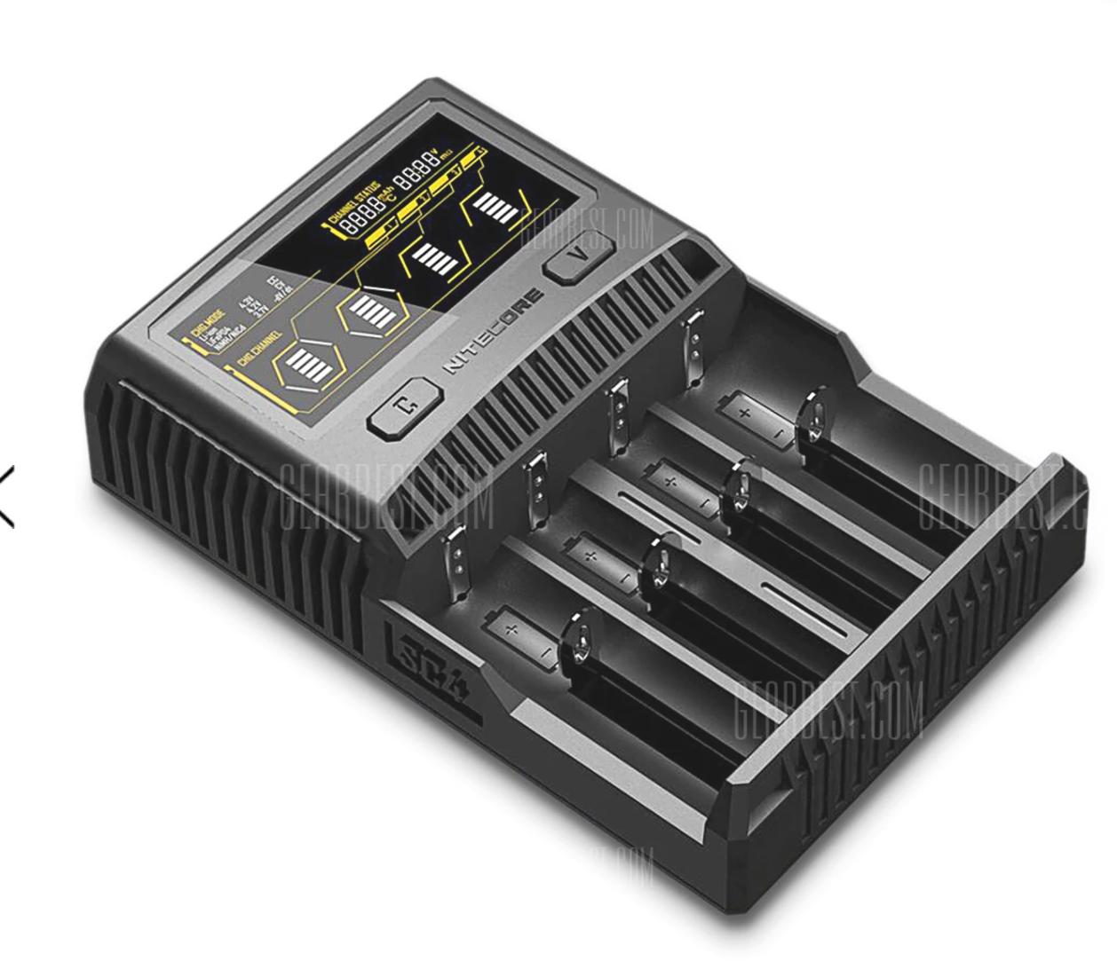 GearBest Nitecore SC4 Li-Ion/Ni-MH Battery Charger