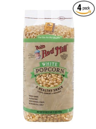 Bob's Red Mill White Popcorn, 27-ounce (Pack of 4) $12.56 [FS Prime/$25]