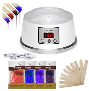 Hair Removal Wax Warmer Kit Machine 4 Flavors Wax Beans and 10 Wax Applicator Sticks $9.99