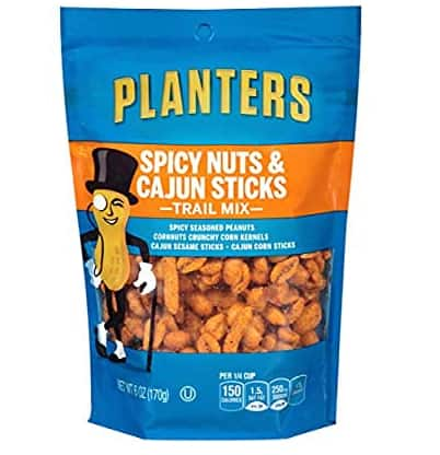 Amazon has (6 oz Pouches, Pack of 12) Planters Spicy Nuts &Cajun Stick Trail Mix $13.22 with S&S