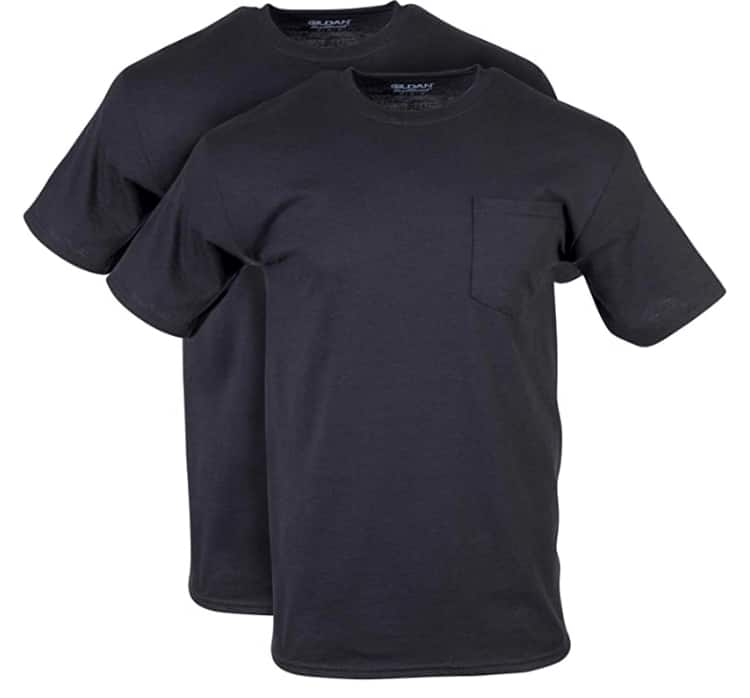 Amazon has Gildan 2-Pack Men's DryBlend Workwear T-Shirts with Pocket starting $7.91