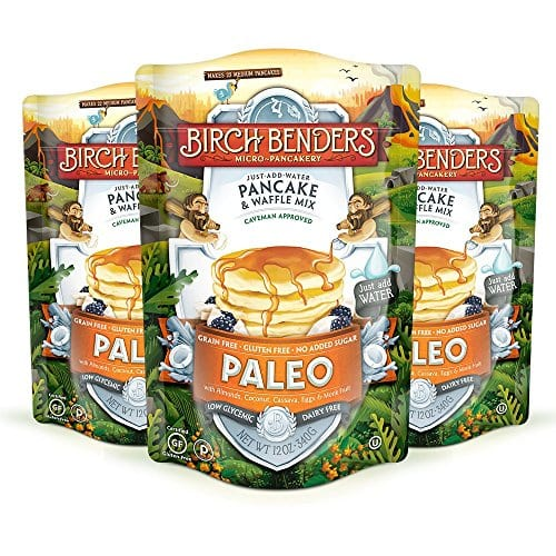 Amazon has 12 Ounce (Pack of 3) Paleo Pancake and Waffle Mix by Birch Benders, Made with Cassava, Coconut, Almond Flour for $9.92 with S&S