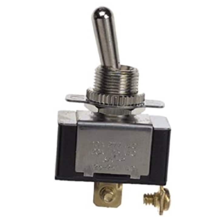 Gardner Bender GSW-110 Electrical Toggle Switch, SPST, ON-OFF, 20 A/125V AC, O Ring/Screw Terminal [ON - OFF (O Ring & Screw Terminal)] $1.59
