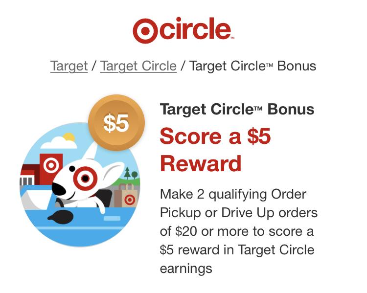 Halloween 2020 Ymmv YMMV Target Circle™ Bonus   Score a $5 Reward with 2 qualifying
