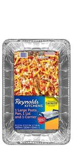 Reynolds Disposable Giant Aluminum Foil Pasta Pans – 20 x 12 Inch, 3 Count $6.73